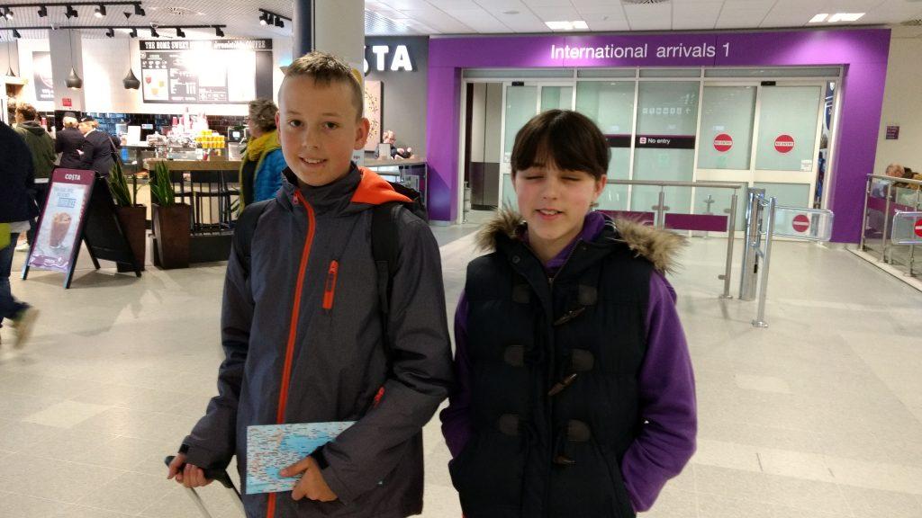 english family homestay in scotland - edinburgh airport