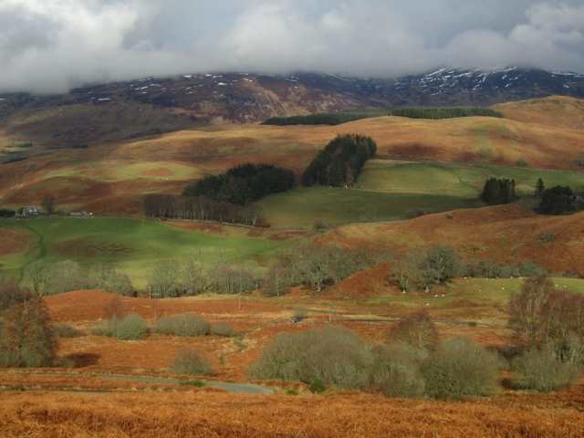 English language homestay - walking near Crieff