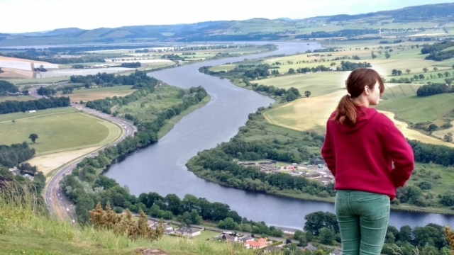 english homestay - On Kinnoull Hill, Perth