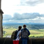 Inside the Wallace Monument - a day trip as part of learning English