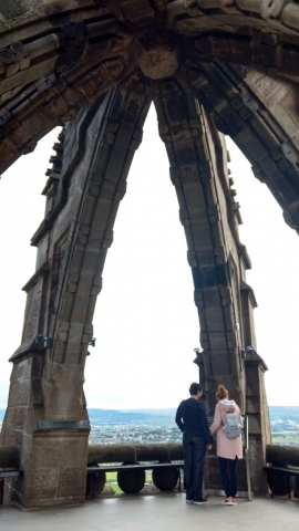 family homestay to learn english in scotland - Inside the Wallace Monument