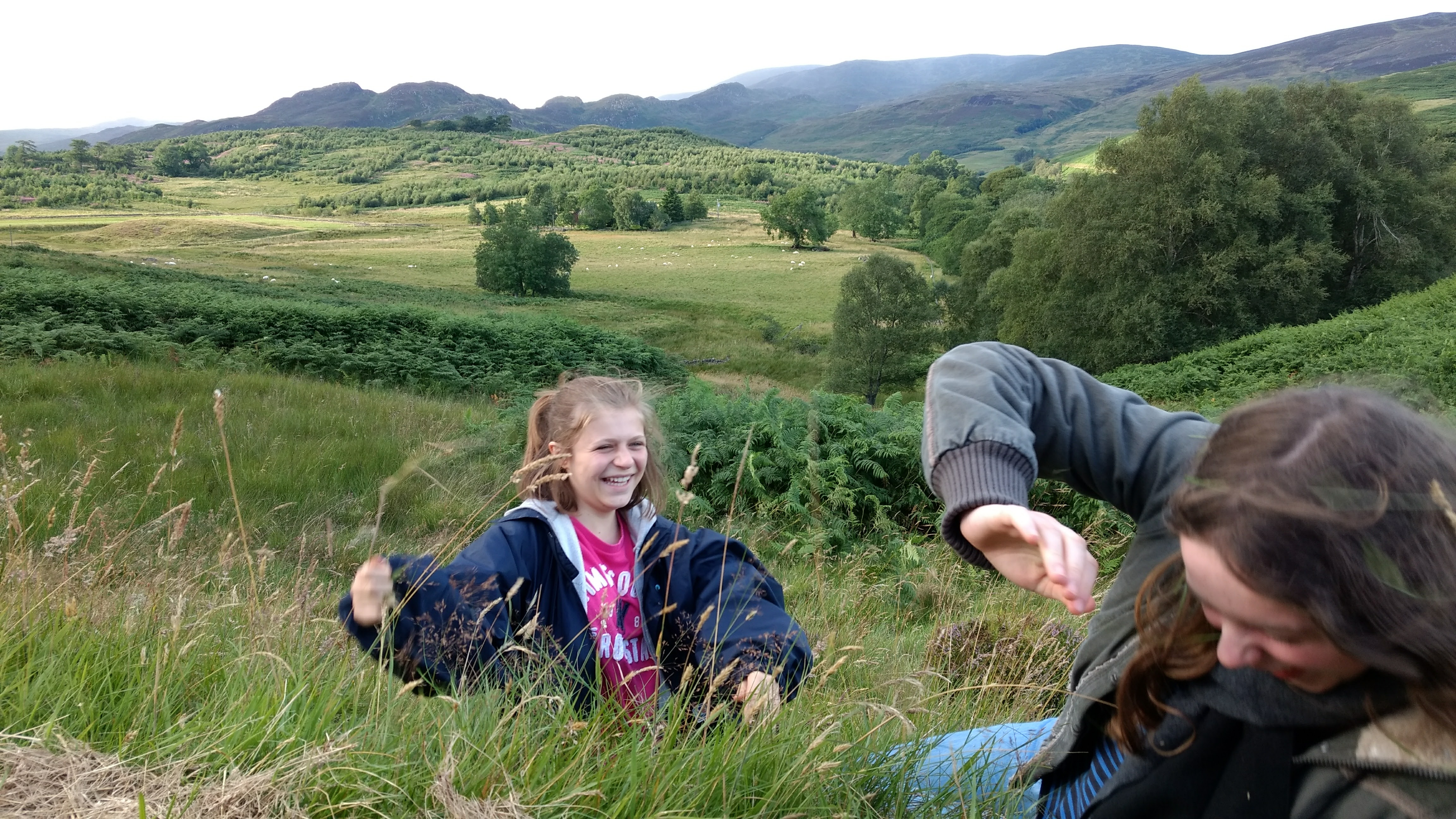Learn English in Scotland - walk near Crieff