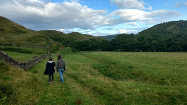 Learn English in Scotland - walking near Crieff