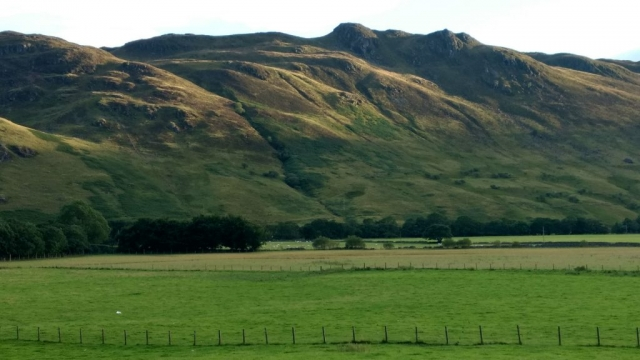 Learn English in Scotland - hills near Crieff