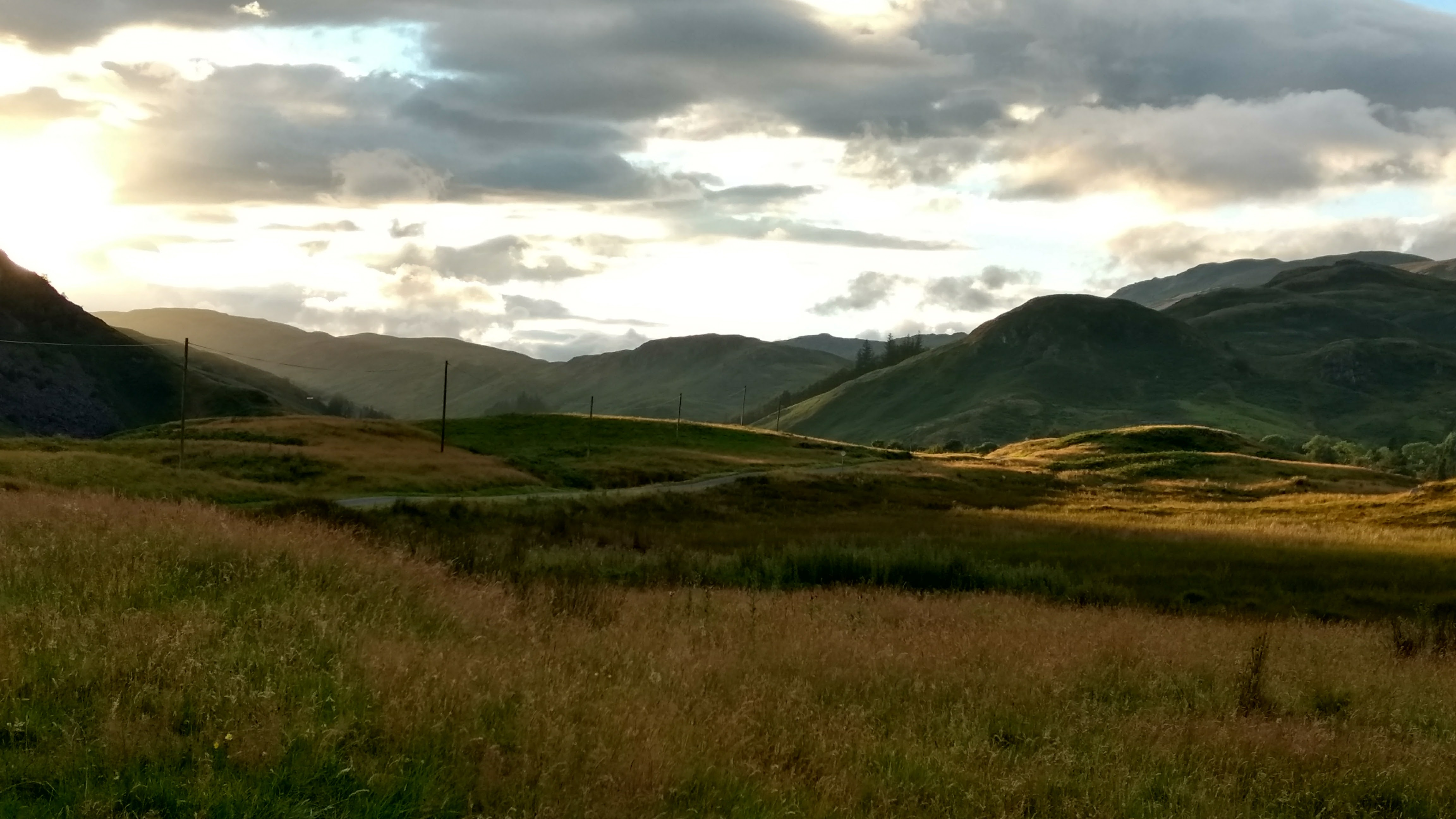Learn English in Scotland - sunset in hills near Crieff