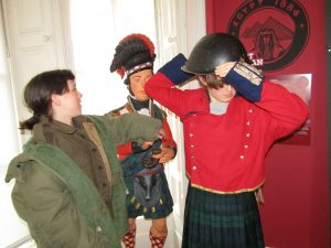 english family homestay in scotland, black watch museum
