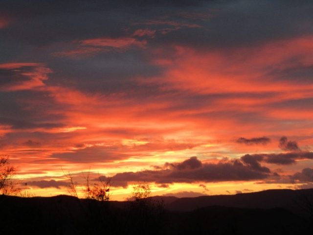 english homestay - Crieff sunset