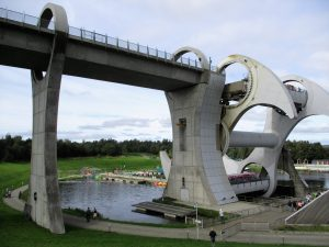 Riding the Falkirk Wheel - a day trip as part of learn English in Scotland
