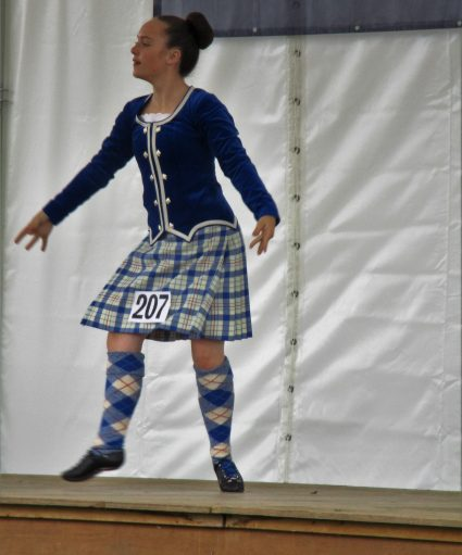 girl scottish country dancing