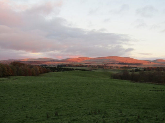 english homestay - Dunblane sunset