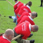 english course in Scotland - tug of war at highland games