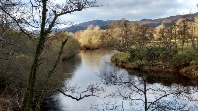 river near crieff - english course in scotland
